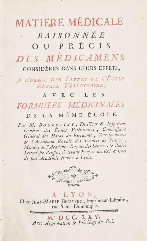 Couverture matière médicale, Bourgelat. Phytothérapie ?